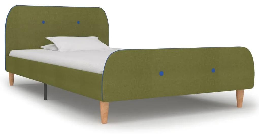 280931 vidaXL Cadru de pat, verde, 90 x 200 cm, material textil