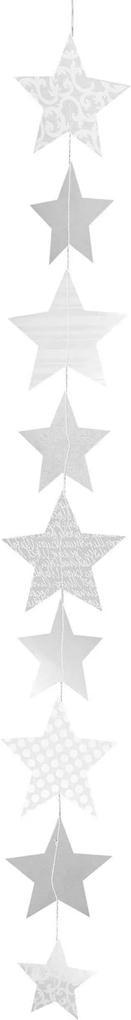 Obiect decorativ suspendat  X-mas stars long printed