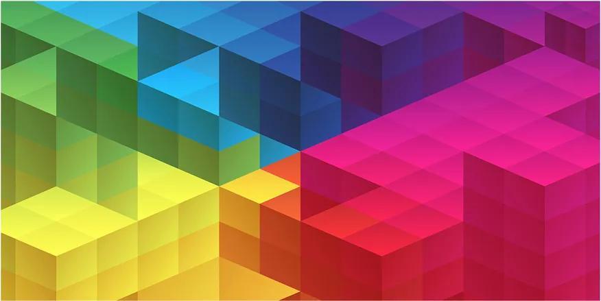 Tablou Printat Pe Sticlă Fundal geometrică