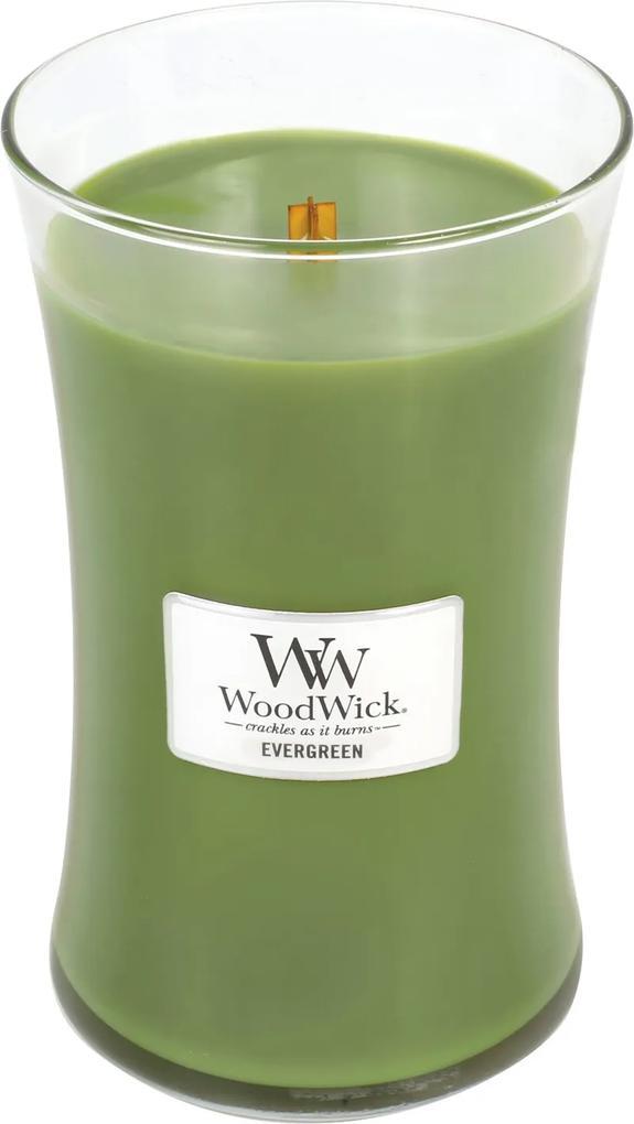 WoodWick lumanare parfumata Evergreen vaza mare