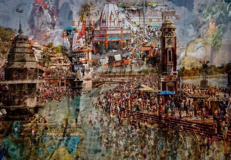 Holy India Fototapet, (104 x 70.5 cm)