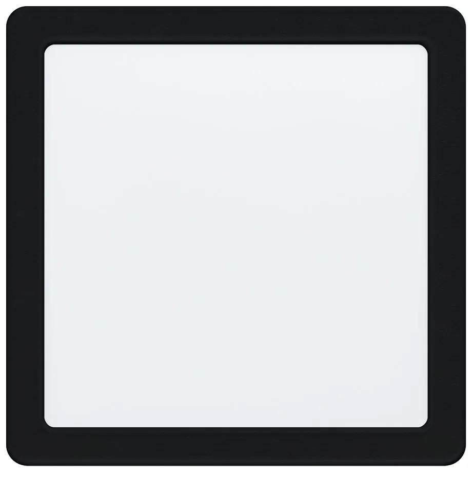 Spot incastrat FUEVA 5, EGLO, LED, 16.5W, 2000 lm, lumina neutra, otel, negru, plastic, alb, A+