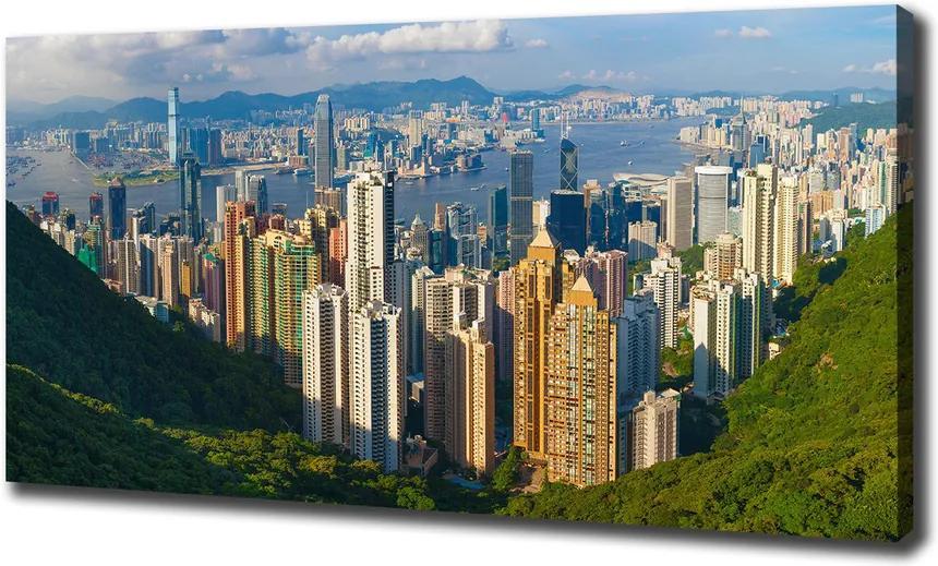 Tablou canvas Hong kong panorama