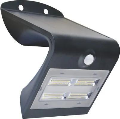 Aplica solara cu LED si senzor de miscare Butterfly 3,2W 400 lumeni, plastic