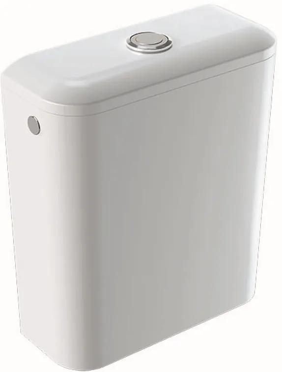 Rezervor WC Geberit iCon Square cu alimentare laterala, alb