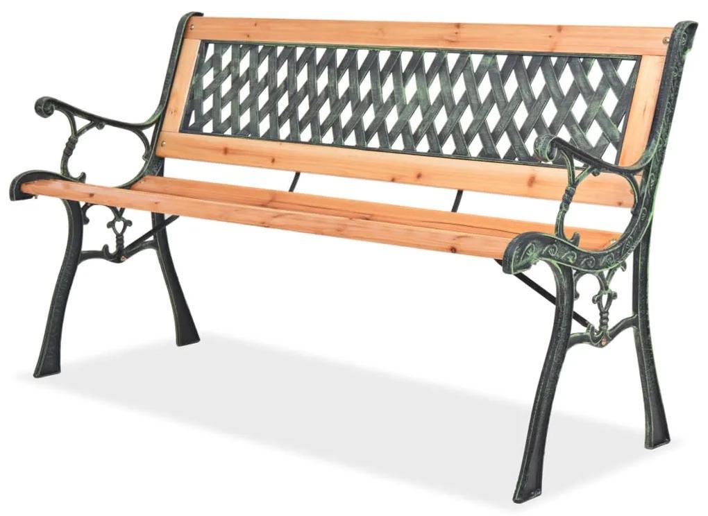 40262 vidaXL Bancă de grădină, 122 cm, lemn