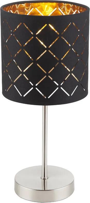 Globo 15229T Lampa de masa de noapte nichel mat negru 1 x E14 max. 40w 35 x 15 x 15 cm