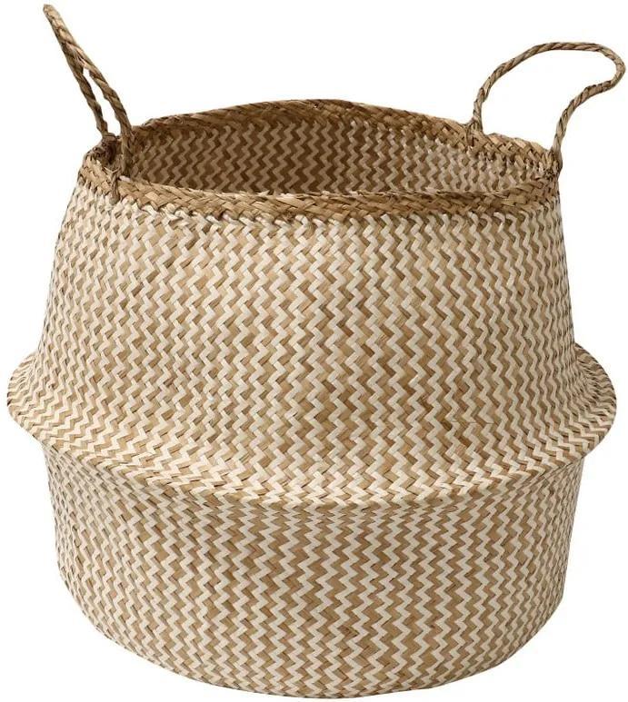Coș pentru depozitare din iarbă de mare Compactor Zic Zac, ⌀ 45 cm
