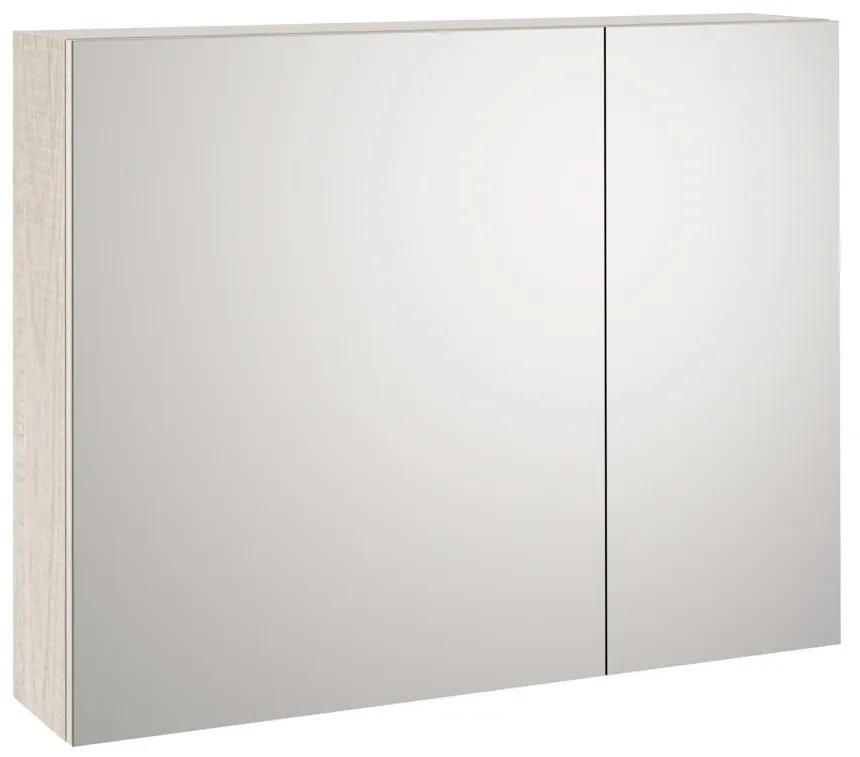 Dulap de baie cu oglinda MALMO, Melamina, Maro, 90x20x70 cm