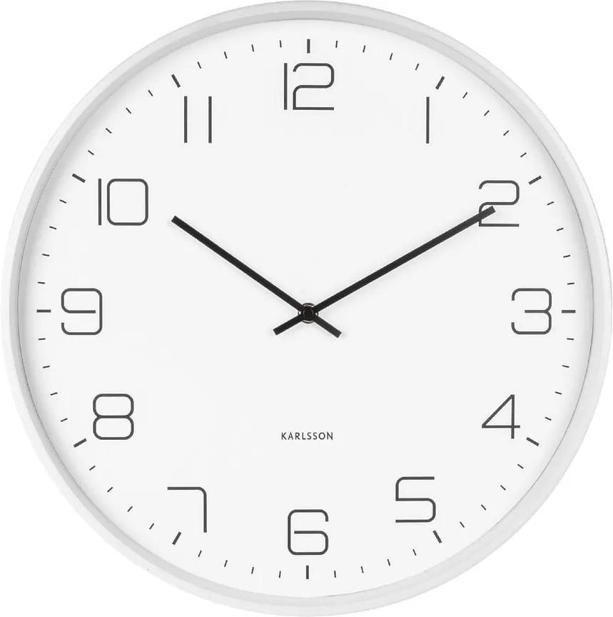 Ceas de perete Karlsson Lofty, ø 40 cm, alb