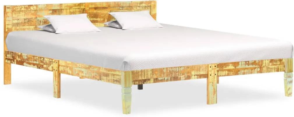 Cadru de pat, 180 x 200 cm, lemn masiv reciclat