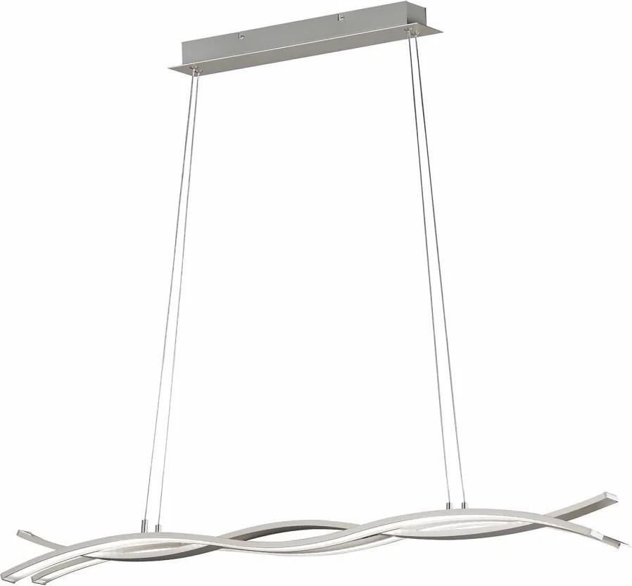 Lustra tip pendul Led Segura sticla acrilica/metal, alb, 230 V, 12 W, 950 lm