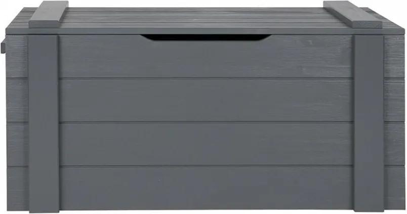 Cufar gri inchis din lemn de pin Dennis Steel Grey
