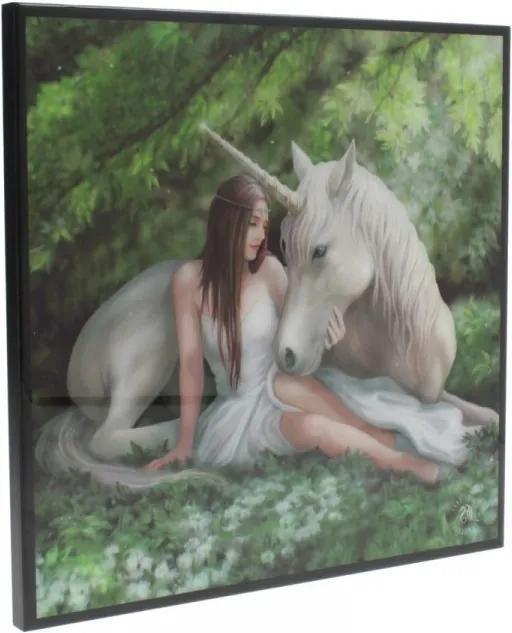 Tablou MDF imagine super clara unicorn Inima Curata - Anne Stokes 25 cm