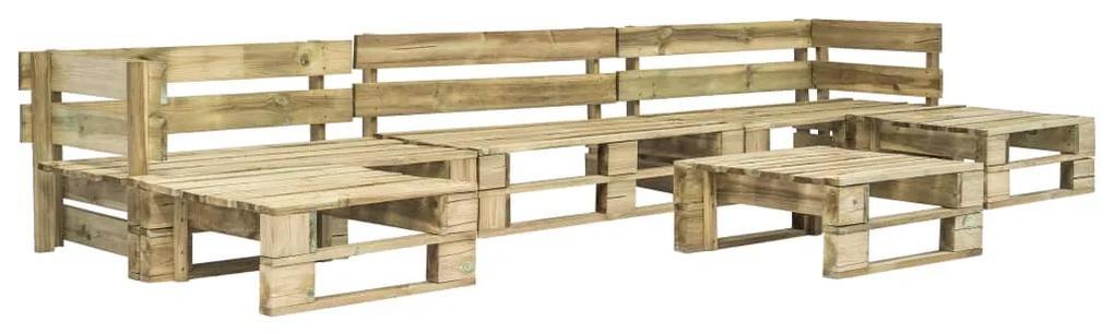 276319 vidaXL Set mobilier de grădină din paleți, 6 piese, lemn