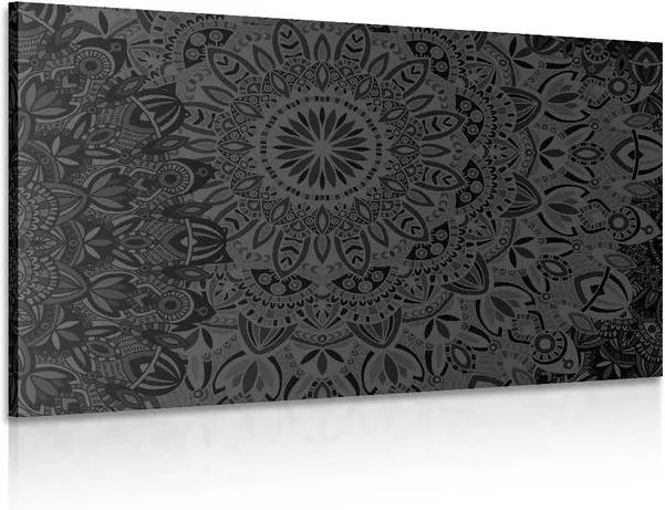 Tablou Mandala elegantă în design alb-negru