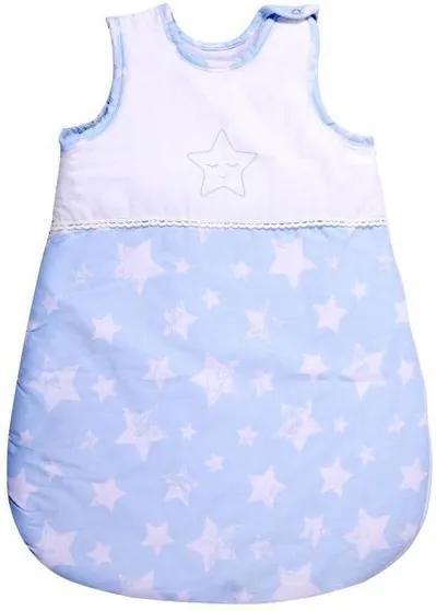 Lorelli - Sac de dormit de iarna, 60 cm, 0-6 luni, cu broderie, Little Stars Blue
