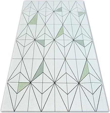 Covor sisal Color 19447/062 Caro Triunghiuri crem 80x150 cm