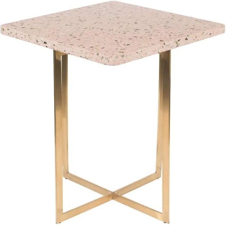 Masuta de cafea roz patrata Side Table Luigi Square Pink