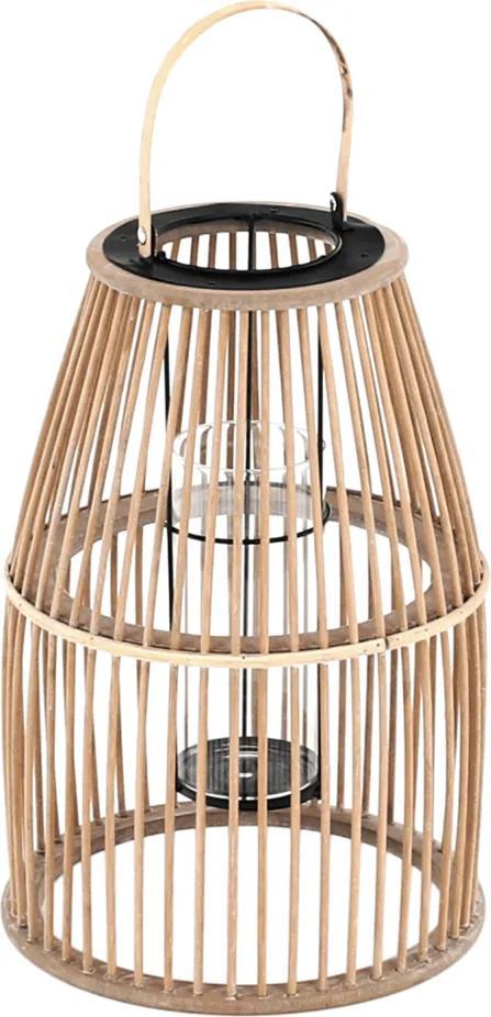 Felinar lumânare, bambus natural, MILES TYP 2