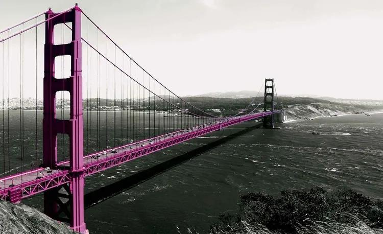 Golden Gate Bridge Fototapet, (152.5 x 104 cm)