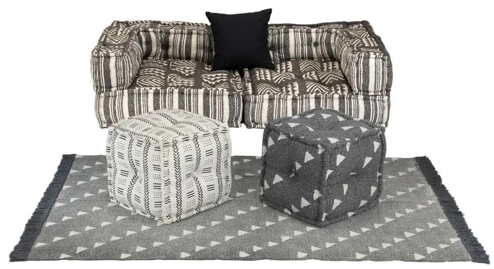 275253 vidaXL Set canapea modulară, 6 piese, material textil, dungi
