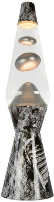 Lampa cu lavă metalică Bullet - Argintiu