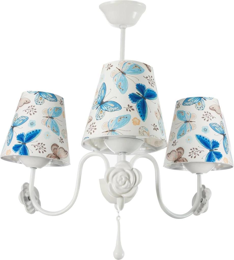 Lustra Gullu Blue Butterfly cu 3 Becuri