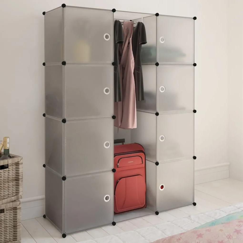 240498 vidaXL Dulap modular cu 9 compartimente, 37 x 115 x 150 cm, alb