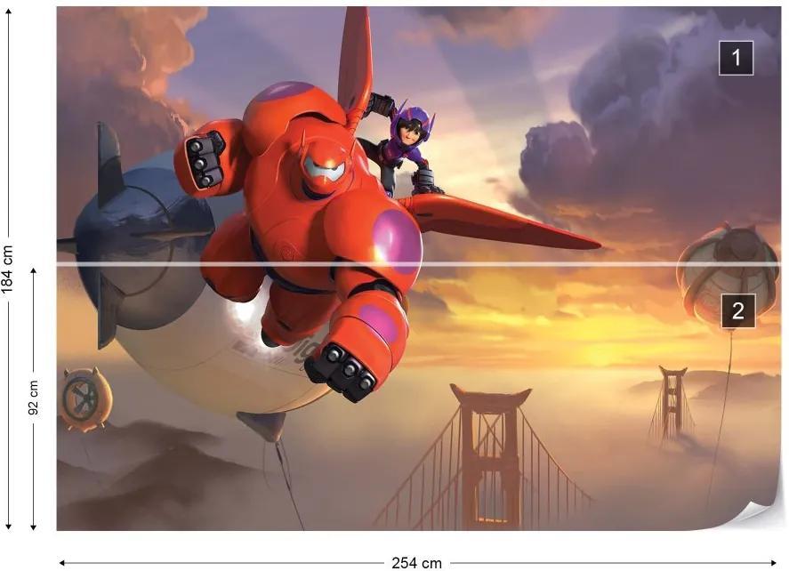 Fototapet GLIX - Disney Big Hero 6 + adeziv GRATUIT Tapet nețesute - 254x184 cm