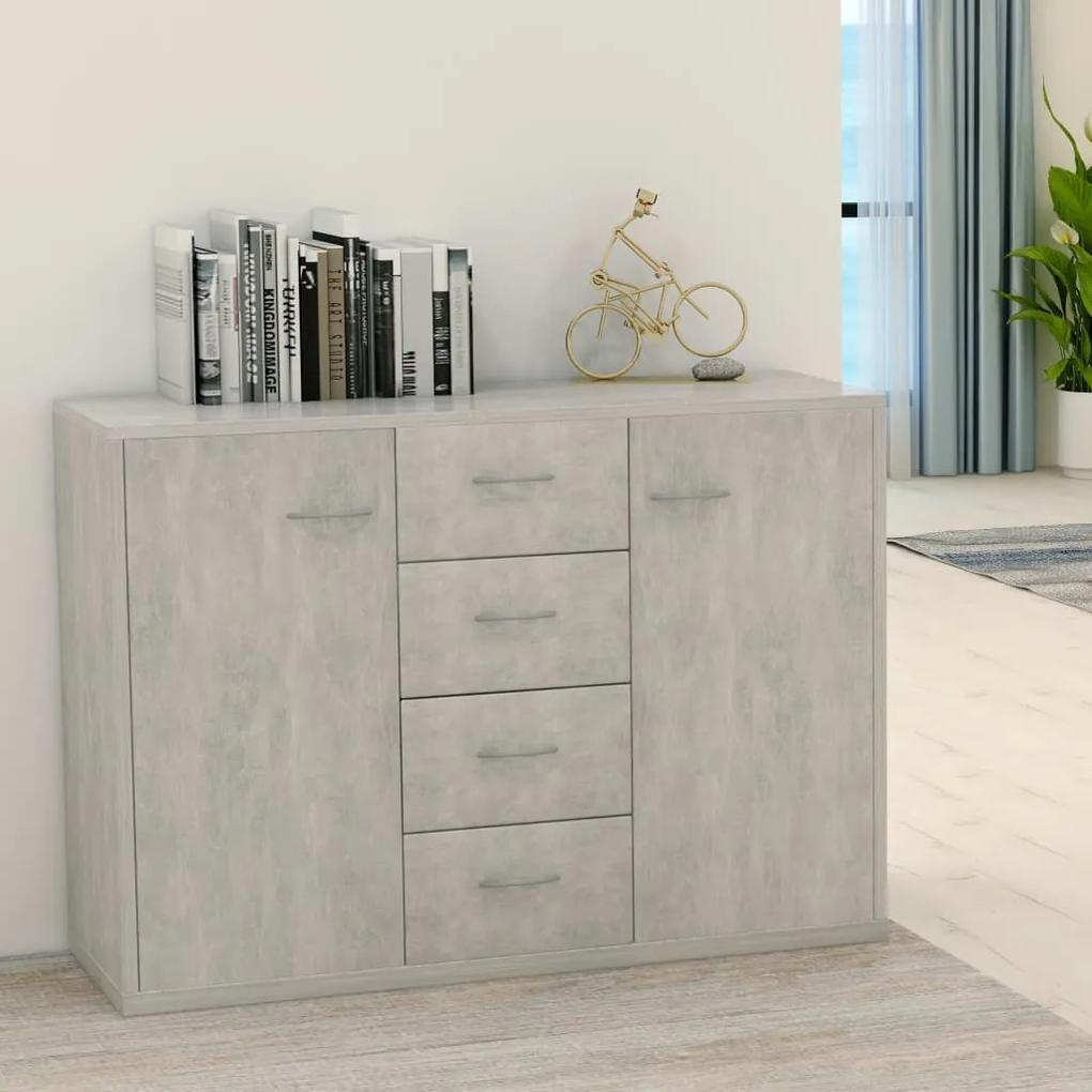 800688 vidaXL Servantă, gri beton, 88 x 30 x 65 cm, PAL