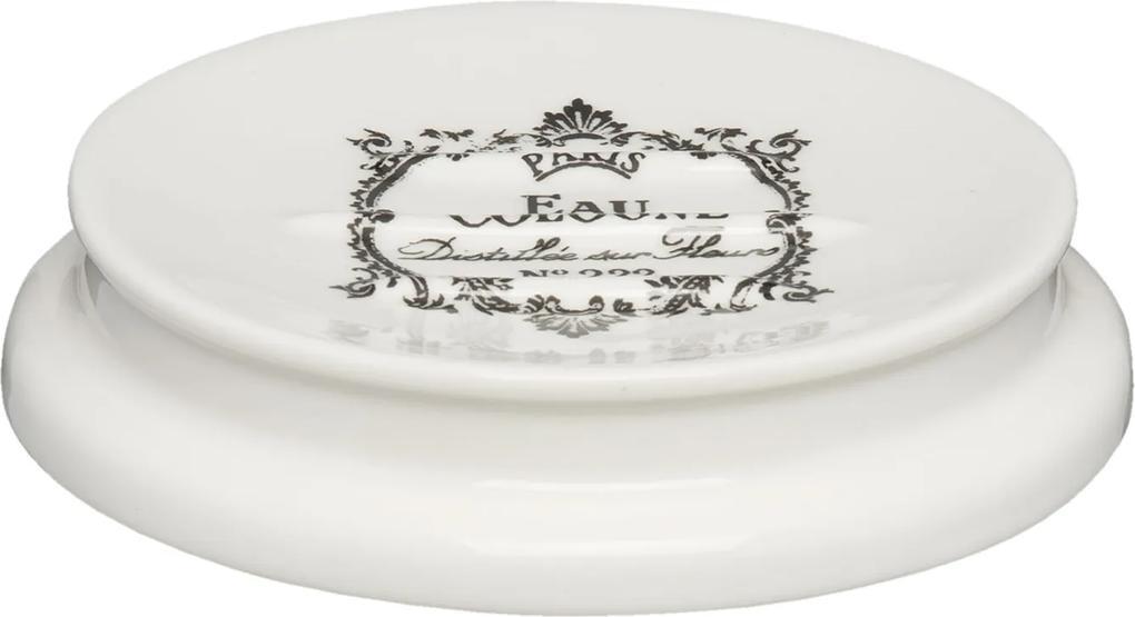 Savoniera ceramica alba Paris Ø 12x2 cm