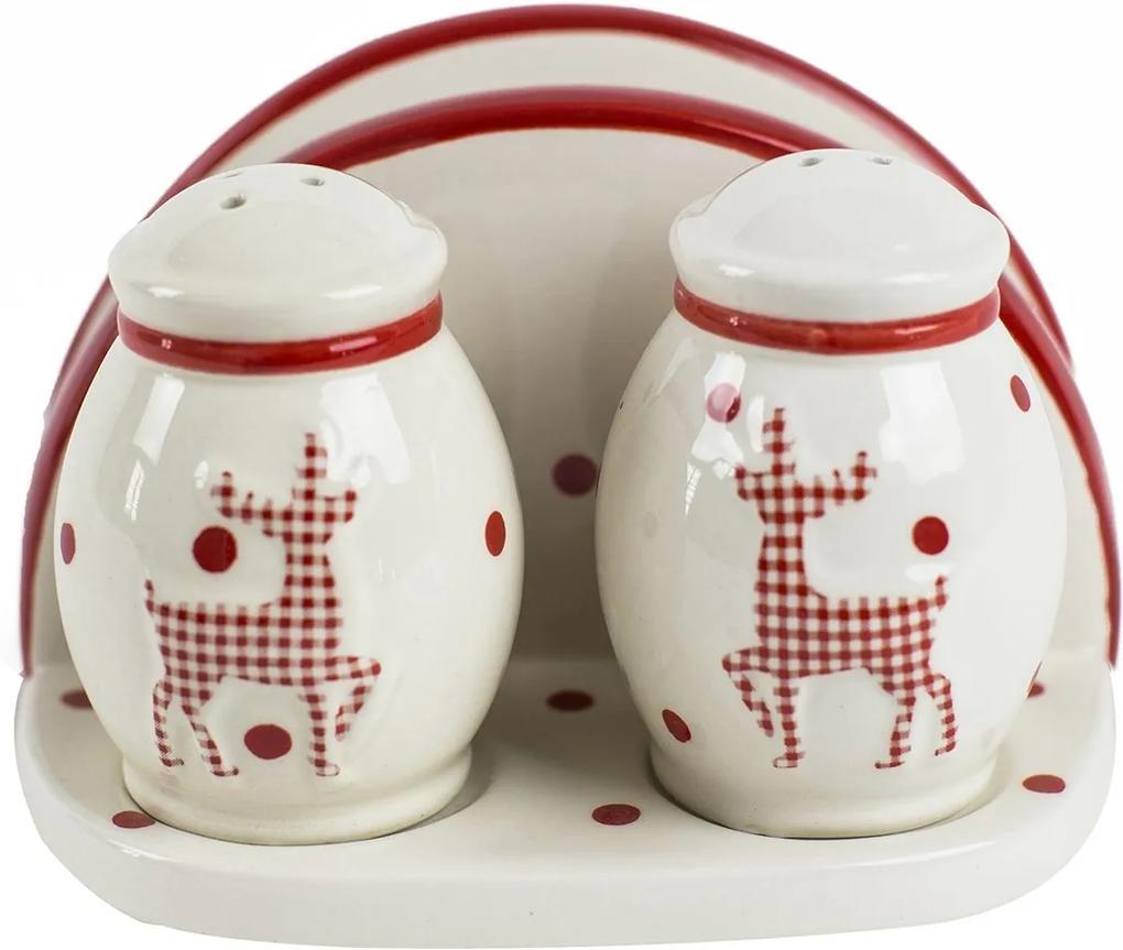Set solnita pipernita & suport servetele Reindeer