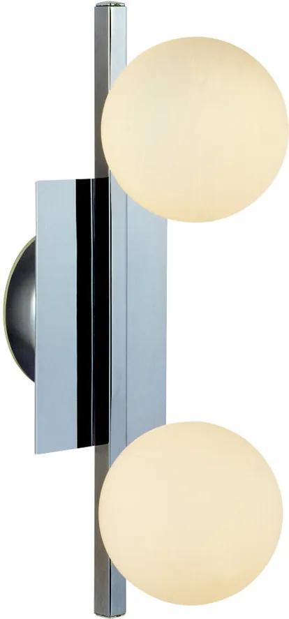 Globo Cardiff 5663-2 Aplice perete pentru baie crom 2 x G9 max. 33w 16 x 10 x 34,5 cm