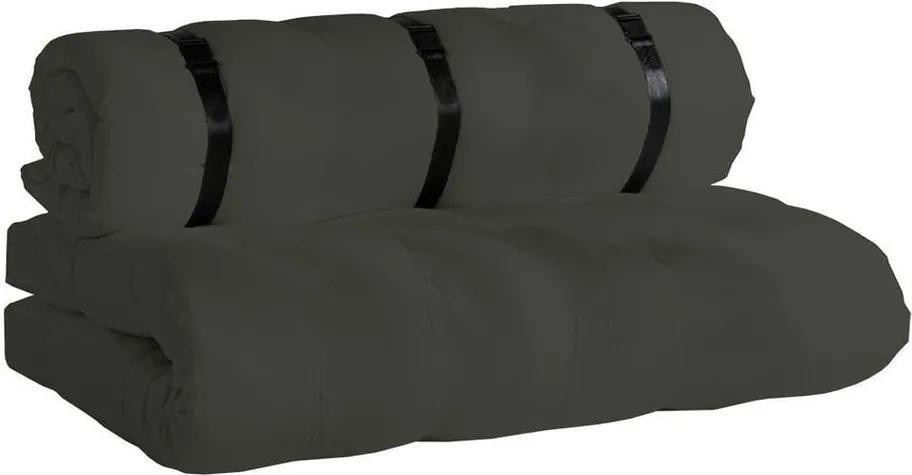 Canapea extensibilă potrivită pentru exterior Karup Design Design OUT™ Buckle Up Dark Grey, gri închis