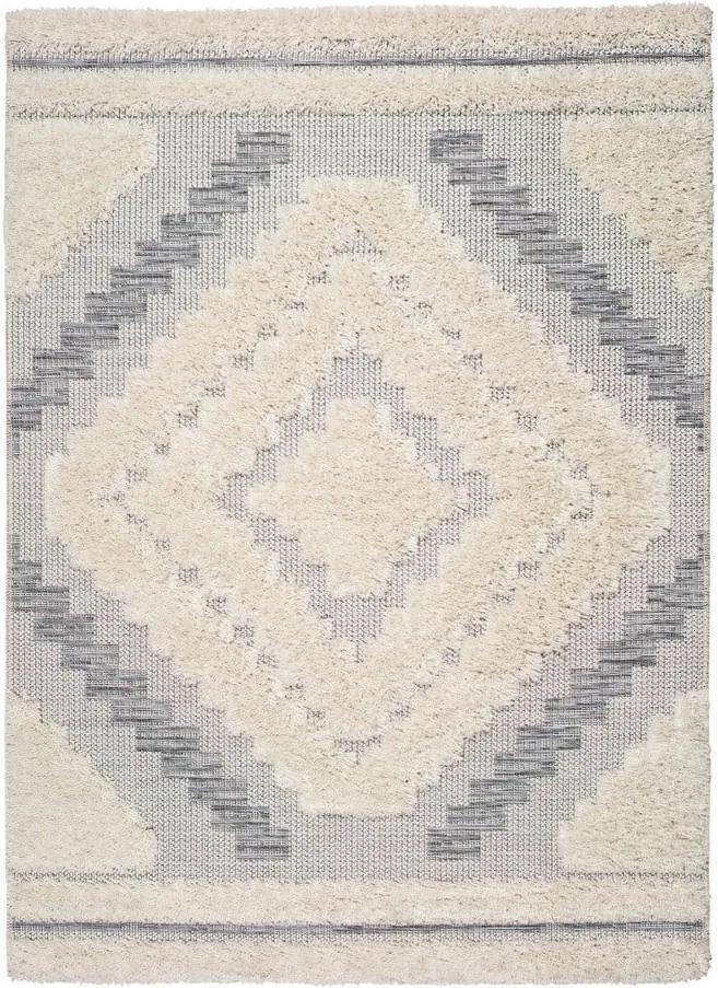 Covor Universal Cheroky Blanco, 115 x 170 cm, alb - gri