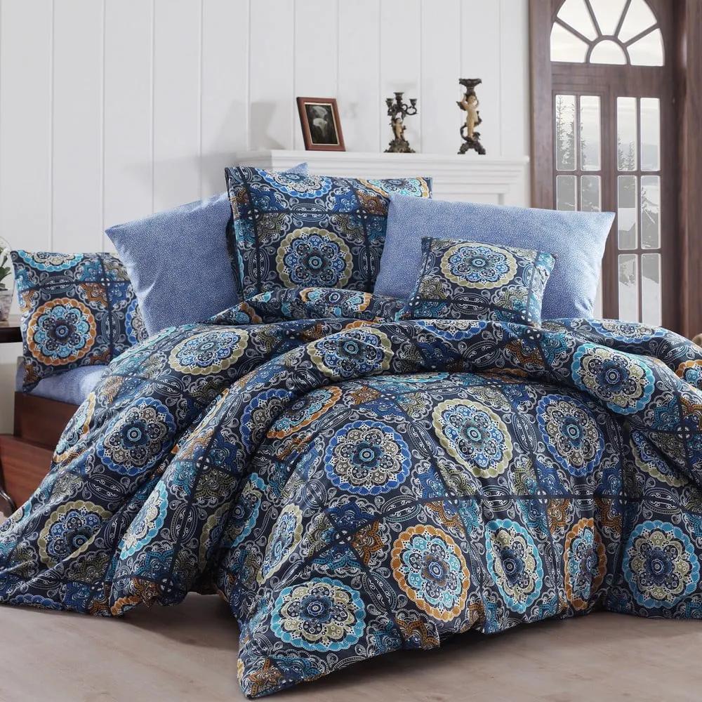Lenjerie de pat cu cearșaf pentru pat dublu Nazenin Home Ashley, 200 x 220 cm