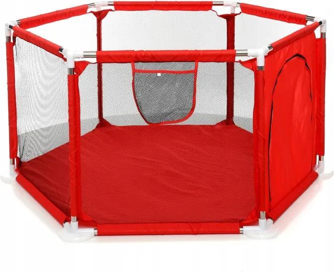 Țarc de joacă textil pentru copii RED BASIC