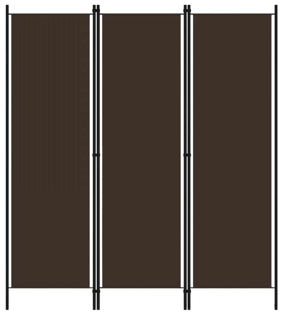 320716 vidaXL Paravan de cameră cu 3 panouri, maro, 150 x 180 cm