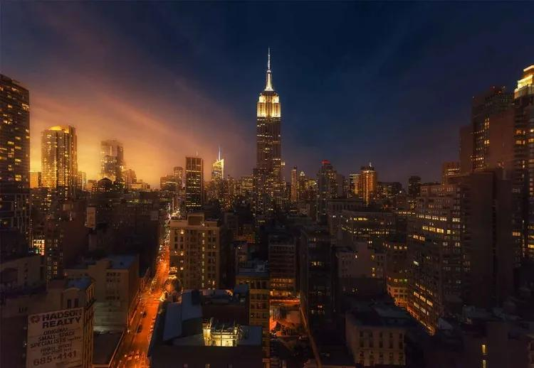 Nyc Empire State Building Fototapet, (368 x 254 cm)