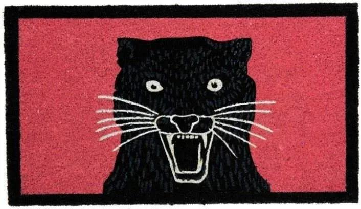 """Covoras intrare """"Panther''- Roz/Negru"""