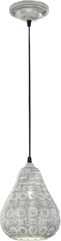 Trio JASMIN 303700161 Pendul cu 1 braț gri antic excl. 1 x E14, max. 40W H:150cm, D:19cm,