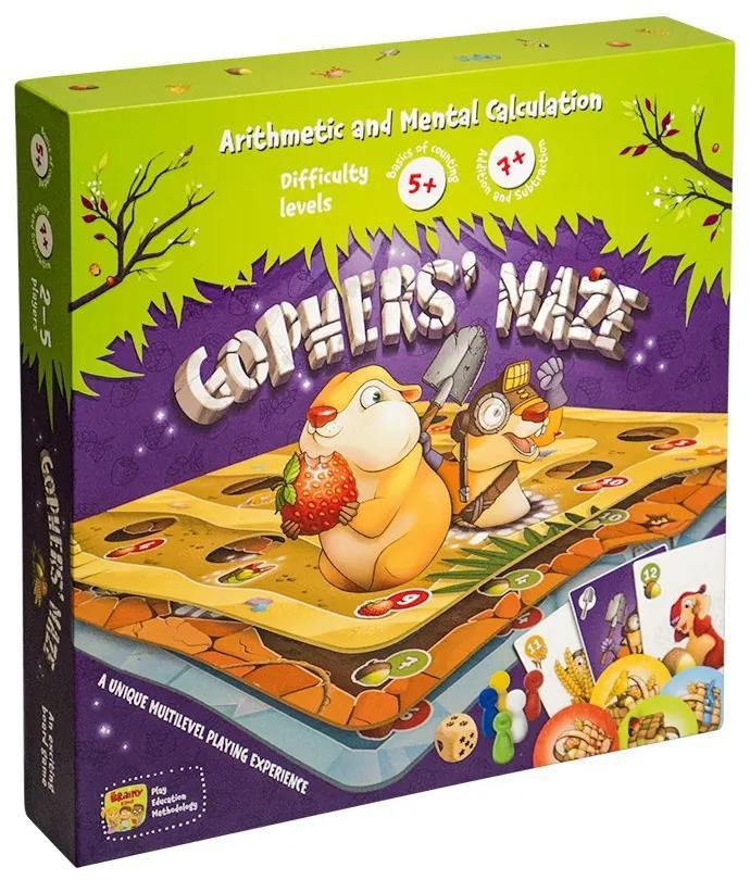 GOPHER S MAZE - Joc Educativ de Strategie cu Ajutorul Operatiilor Simple de Matematica