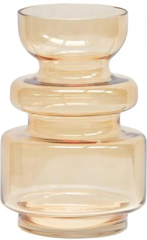 Vaza galbena din sticla 24 cm Expressive