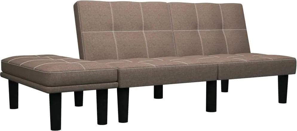 Canapea pentru 2 persoane, maro, material textil