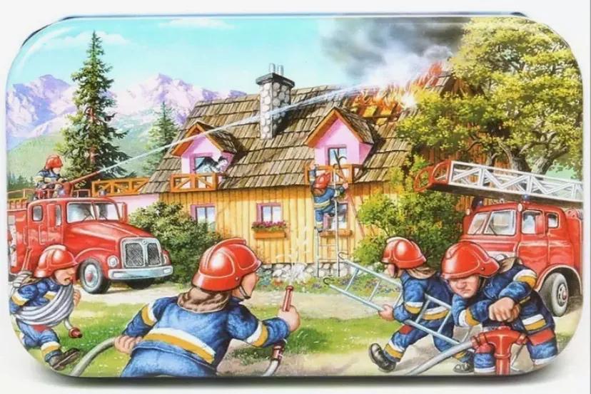 Puzzle din lemn - Pompierii 60buc