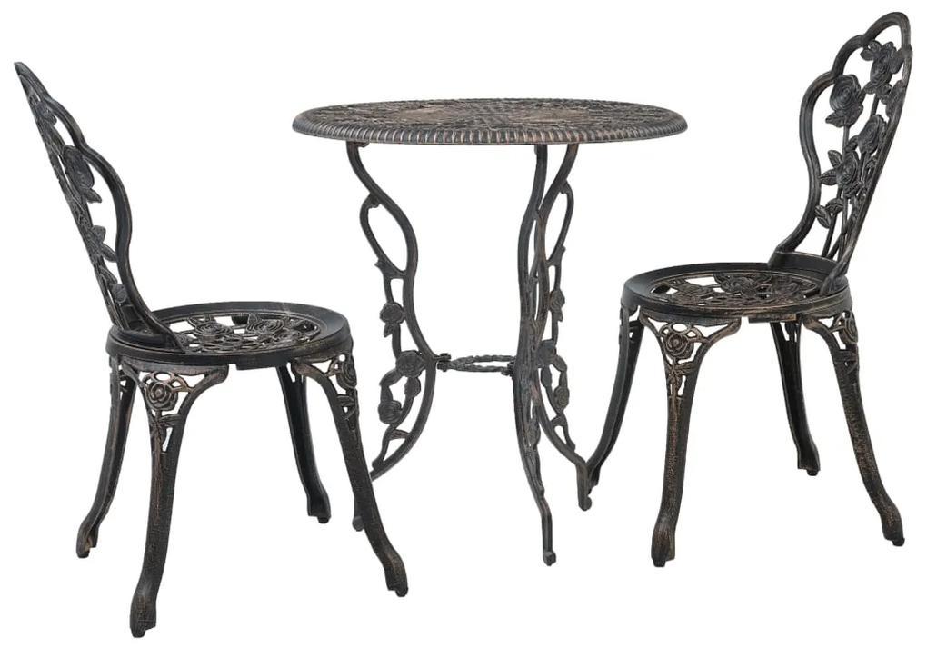 47858 vidaXL Set mobilier bistro, 3 piese, aluminiu turnat