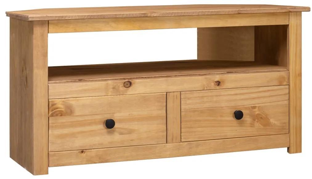 282685 vidaXL Comodă TV de colț, 93x49x49 cm, lemn masiv de pin, gama Panama