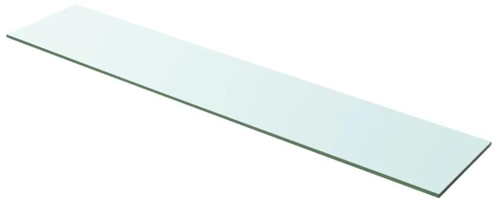 243844 vidaXL Raft din sticlă transparentă, 100 x 20 cm