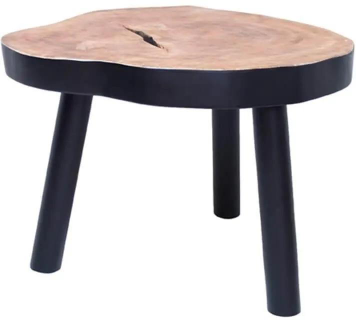 Masuta din lemn TREE - Lemn Negru Diametru(65 cm) x Inaltime( 46 cm)